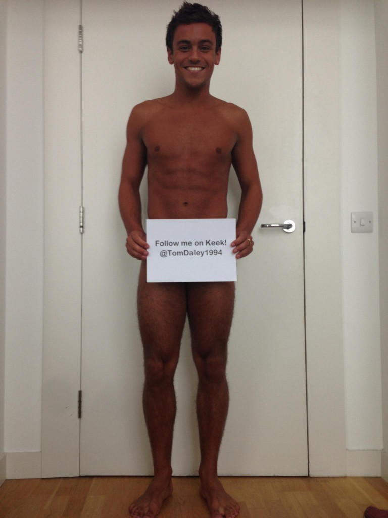 Tom Daley Almost Nude