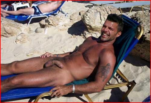 Ricky Martin Caught Nude Sunbathing