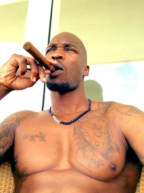NFL Player Chad Johnson Shirtless