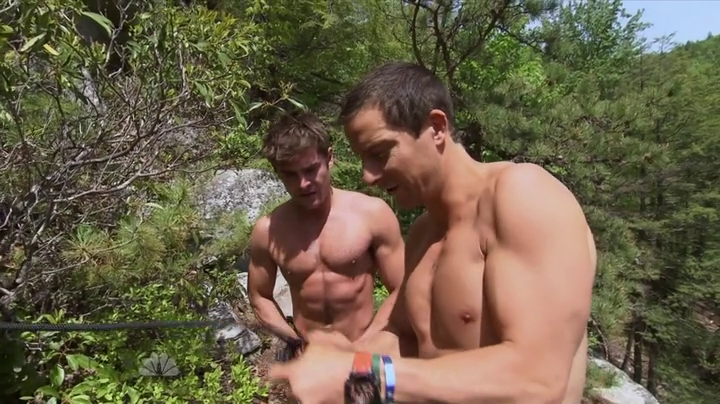 Zac Efron and Bear Grylls Shirtless
