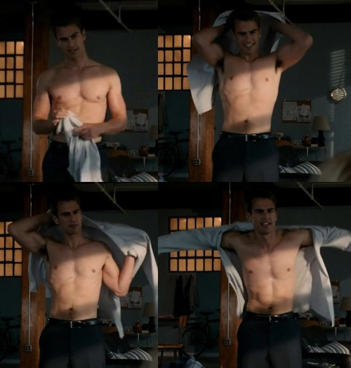 Theo James Half Naked
