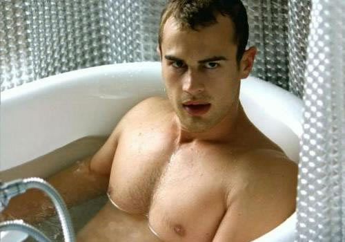 Theo James Shirtless