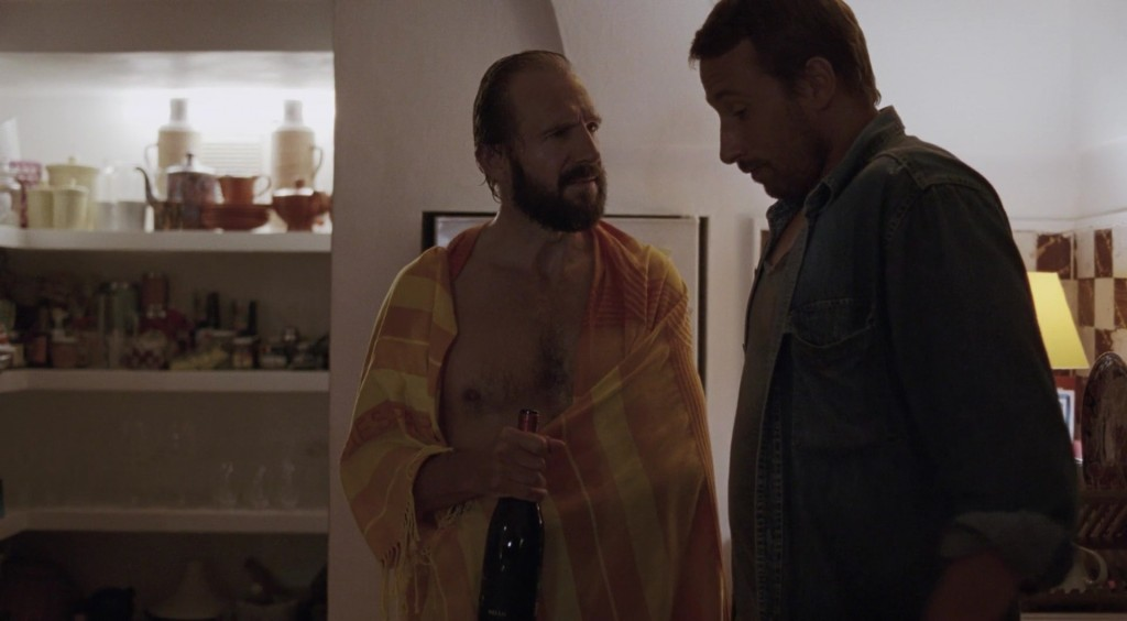 Ralph Fiennes shirtless in A Bigger Splash