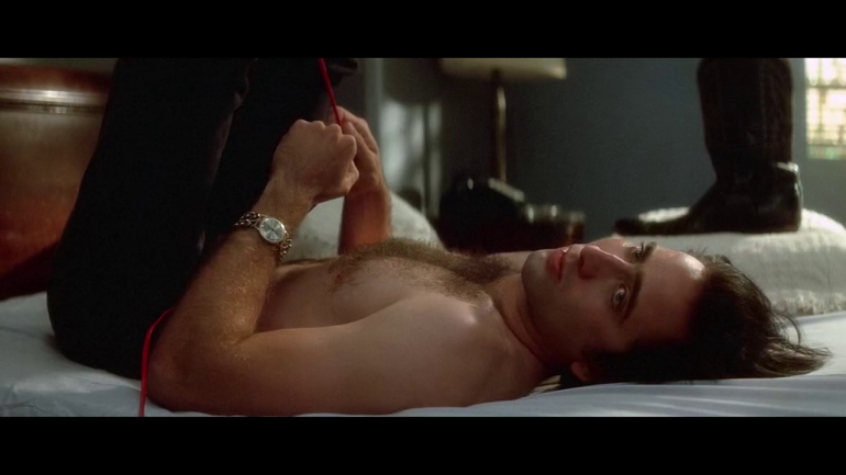 Nicolas Cage Shirtless and Hairy in Wild At Heart