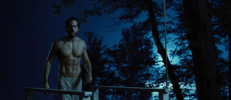 Sexy actor Ryan Reynolds shirtless in The Amityville Horror