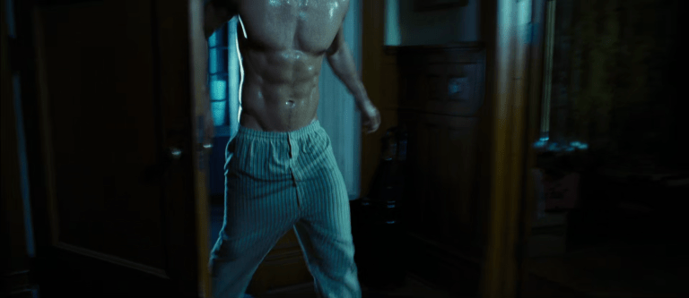 Ryan Reynolds shirtless in sweat pants