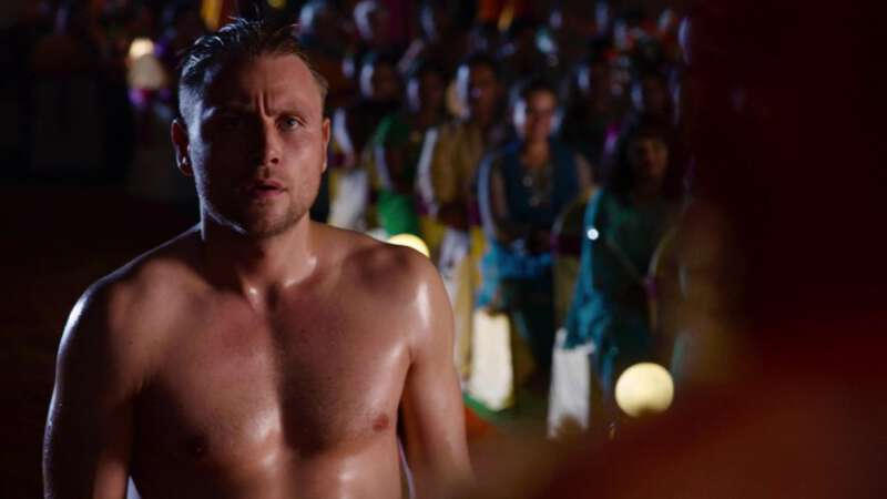 Shirtless actor Max Riemelt