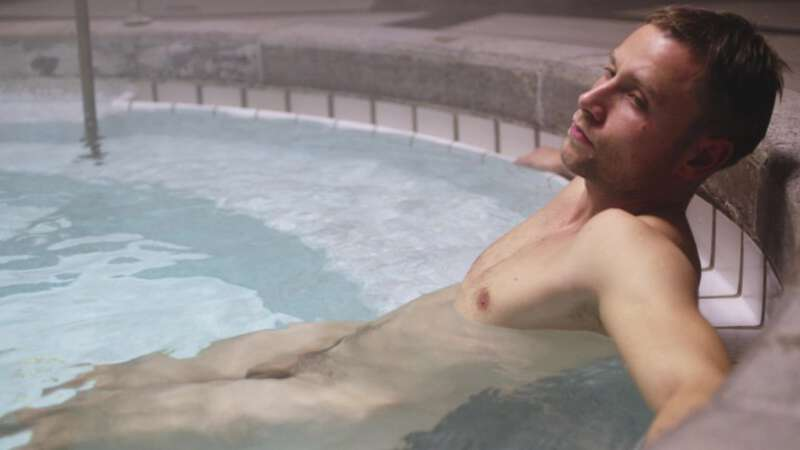"German actor Max Riemelt naked in a pool in Sense8 ""Demons"" episode"