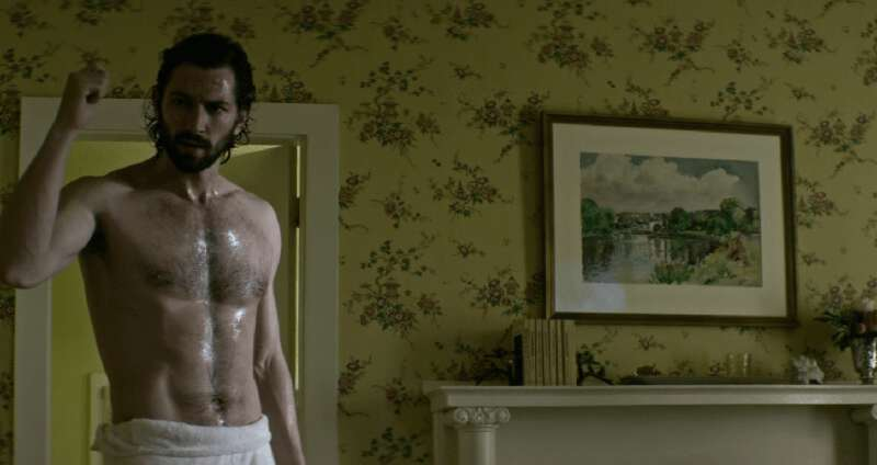 Shirtless actor Michiel Huisman