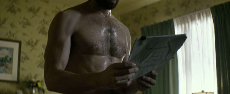 Michiel Huisman shirtless and wet