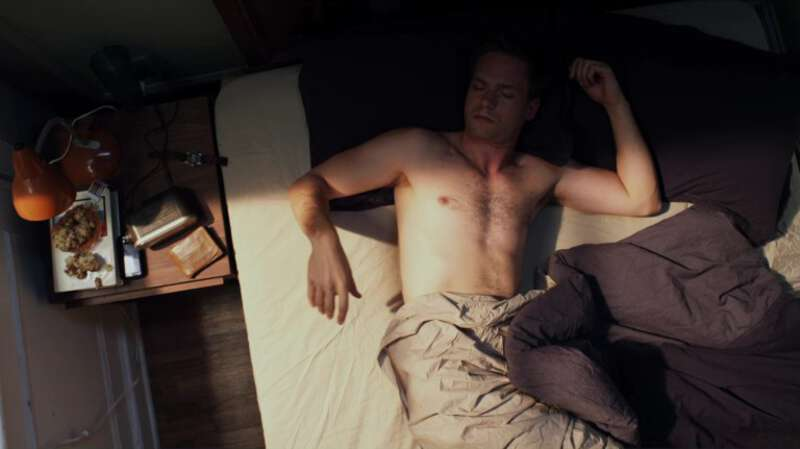 Handsome Patrick J. Adams shirtless