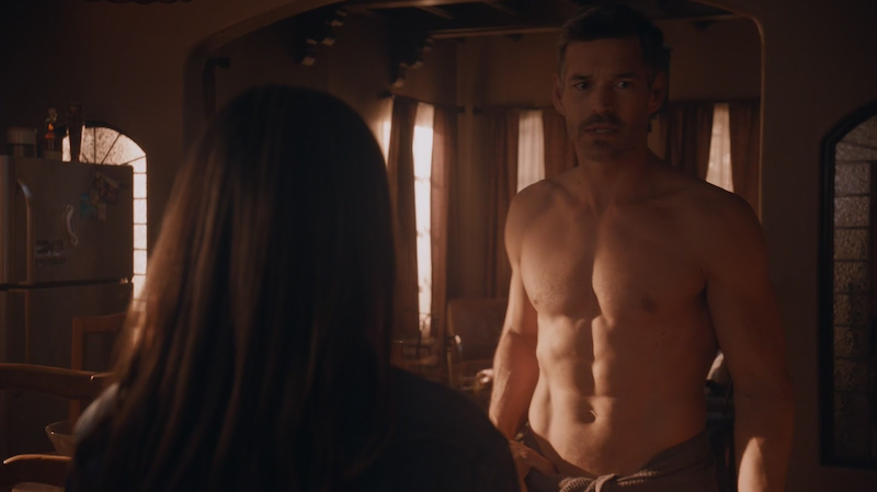 fit actor Eddie Cibrian shirtless