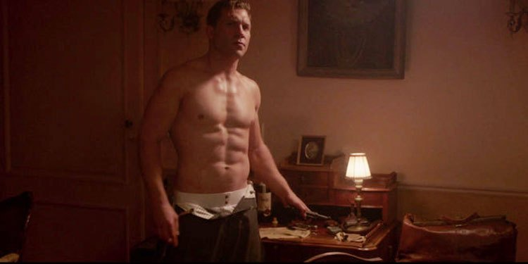 Jai Courtney Naked in The Exception