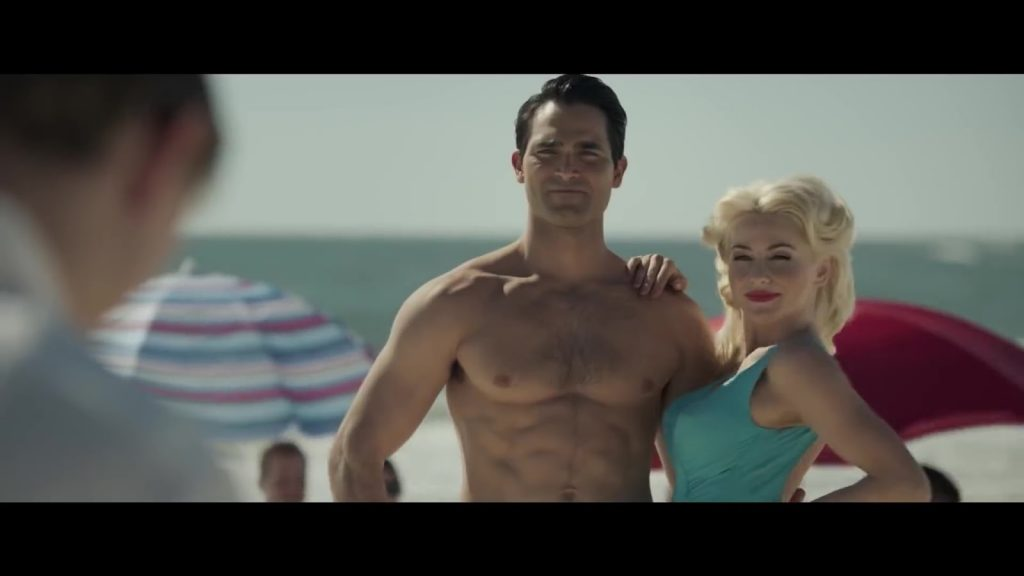 Tyler Hoechlin Shirtless in the movie Bigger